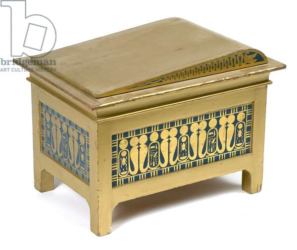 Replica of a decorated gilt casket from the tomb of Tutankhamun, 1924 (painted wood)