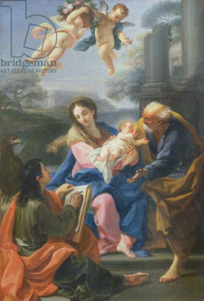 The Holy Family with the Artist (oil on canvas)