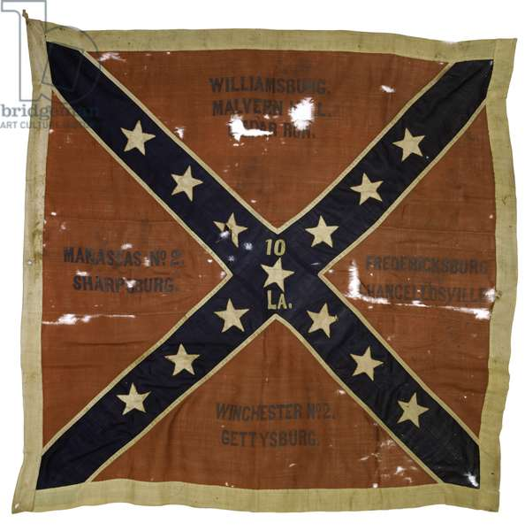 Third anniversary flag of the Tenth Louisiana Infantry, c.1864 (textile)