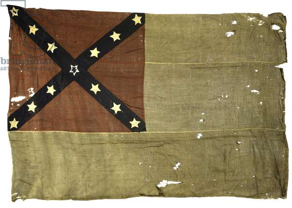 Second National Flag of the Twelfth Louisiana Infantry (textile)
