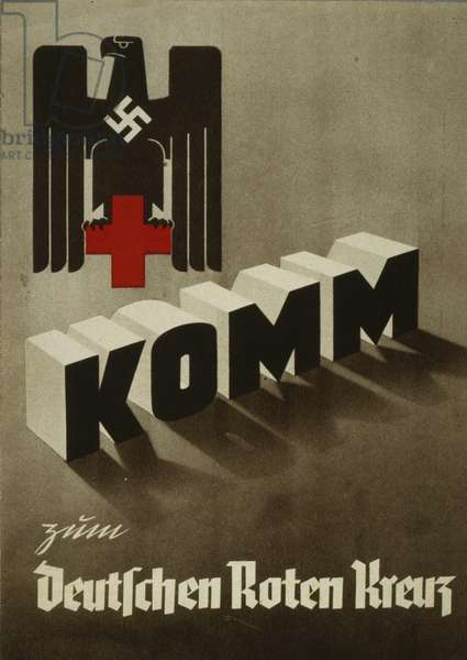 Front cover of a promotion brochure for the German Red Cross, 1938 (colour litho)