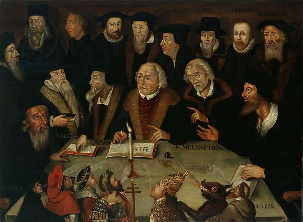 Martin Luther in the Circle of Reformers, 1625-50 (oil on panel)