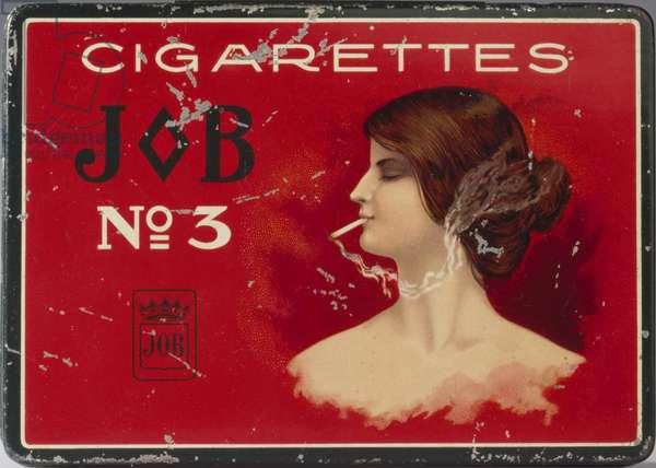Tin for 100 'Job No. 3' cigarettes, c.1910 (metal)