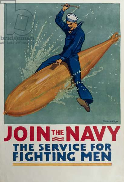 'Join the Navy', c.1917 (colour litho)