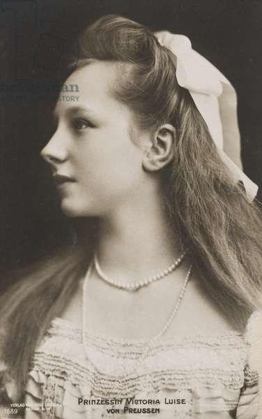 Viktoria Luise of Prussia, c.1908-10 (b/w photo)
