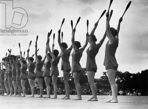 German Girls' League sports meeting, 1938 (b/w photo)