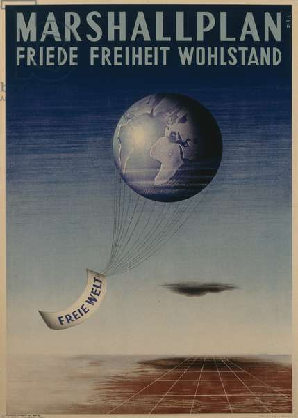 Poster advertising the European Recovery Program (Marshall Plan), printed by Elbemuehl AG, Vienna, 1950, (colour litho)