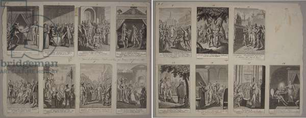 Illustrations from 'Scenes of the Thirty Years War' 1792 (litho)