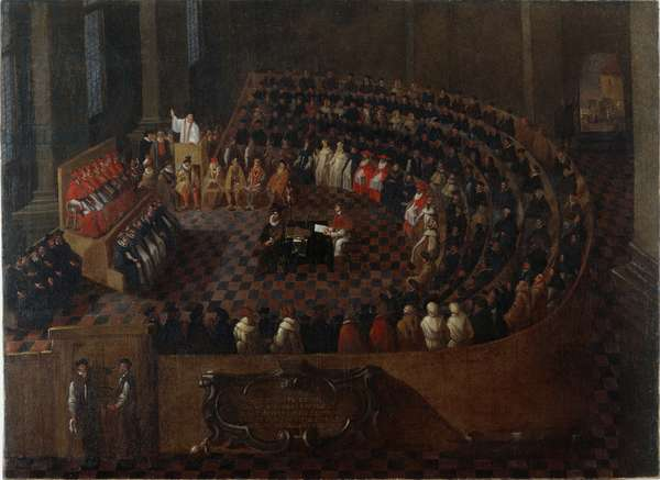 The final (25th) session of the Council of Trent, after 1563 (oil on canvas)