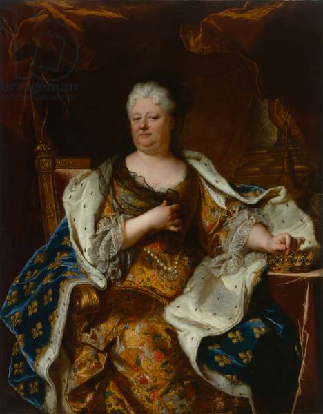 Elisabeth Charlotte (Liselotte) of the Palatinate, Duchess of Orléans with crown and ermine widow's veil, after 1715 (oil on canvas)