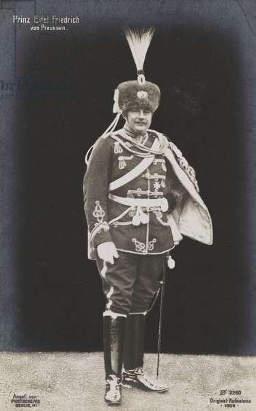 Eitel Friedrich of Prussia, 1909 (b/w photo)