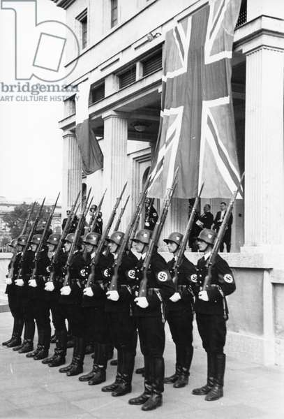 Guard of Honour at the signing of the Munich Agreement, Munich, Germany, 1938 (b/w photo)