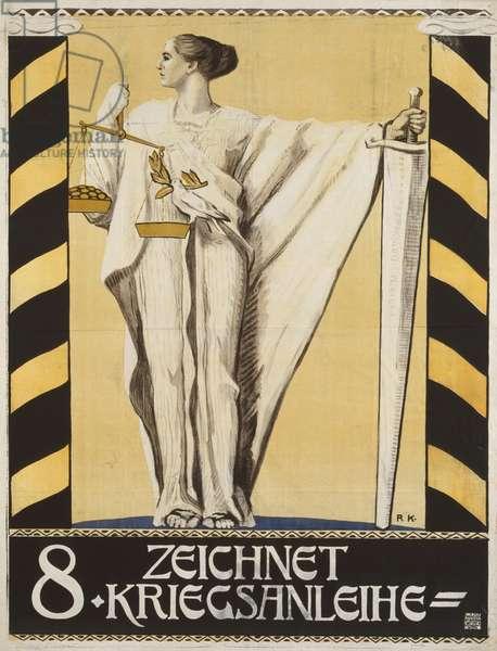 Austrian advertisement for war bonds, 1917 (colour litho)