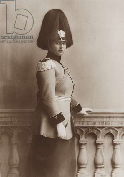 Alexandra Victoria of Prussia, c.1910 (b/w photo)