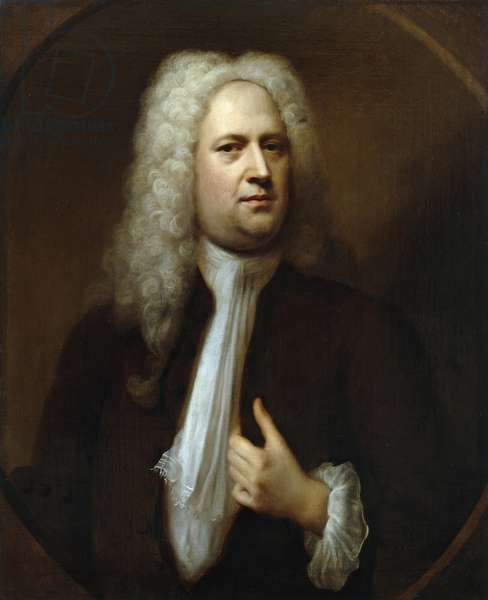 Portrait of George Frideric Handel, 1733 (oil on canvas)