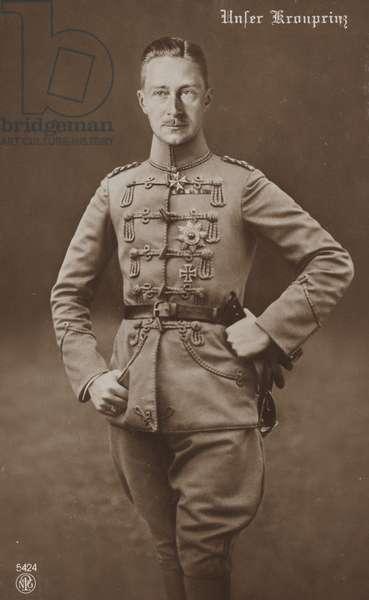 William of Prussia, c.1913 (b/w photo)