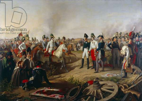 Declaration of Allied victory after the Battle of Leipzig, 19th October 1813, 1839 (oil on canvas)