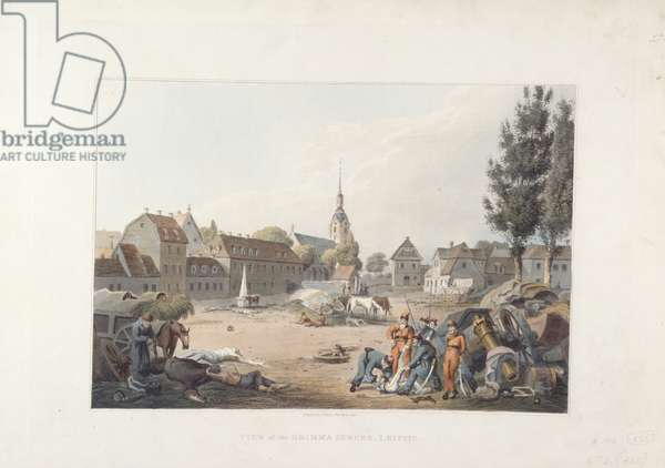 View of Grimma suburb after the Battle of Leipzig, from