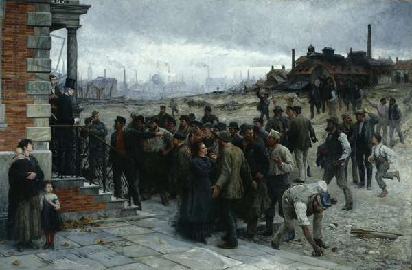 The Strike (Pittsburgh, 1877), 1886 (oil on canvas)