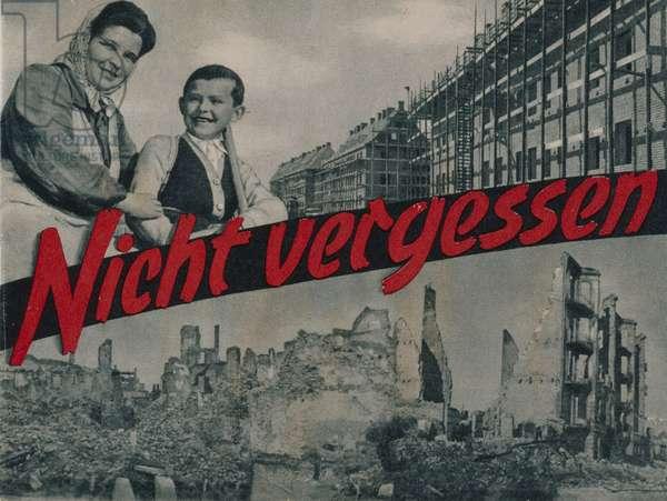Poster advertising the European Recovery Program (Marshall Plan) published by Verlag fuer Publizistik GmbH and Bundesministerium fuer den Marshallplan und ECA-Mission von Deutschland, Bonn, 1950, (colour litho)