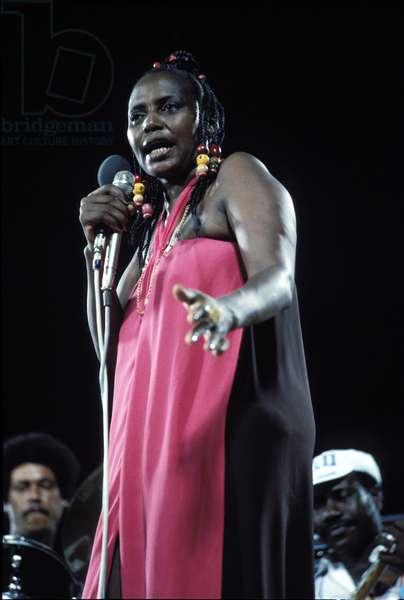 Miriam Makeba singing in