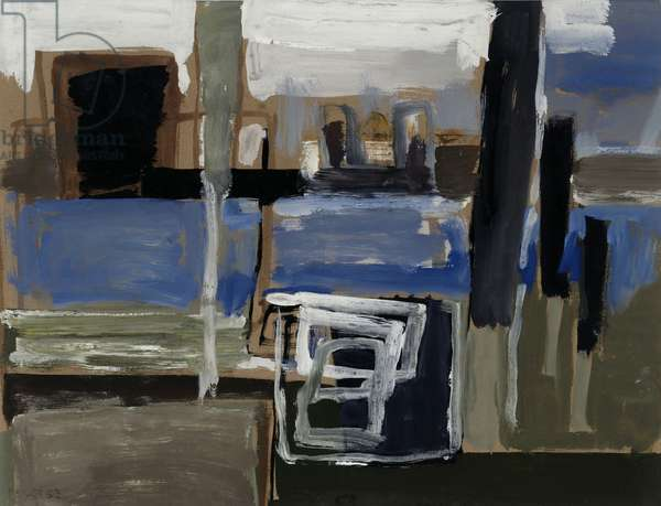Sketch for 'Florence' series, 1953 (oil on paper)