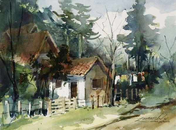 Campos do Jordao, 1991 (w/c on paper)