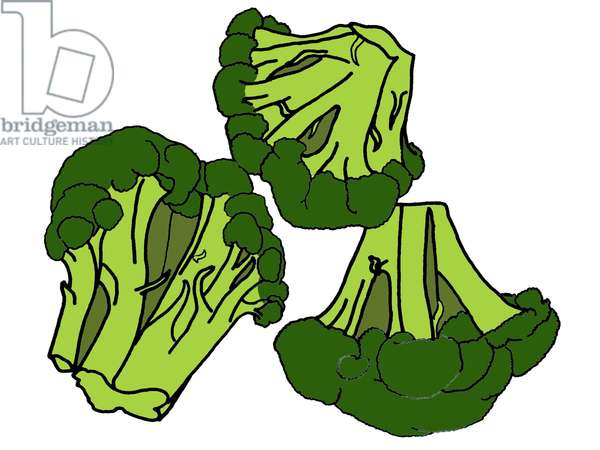 Broccoli, 2008-09 (mixed media)