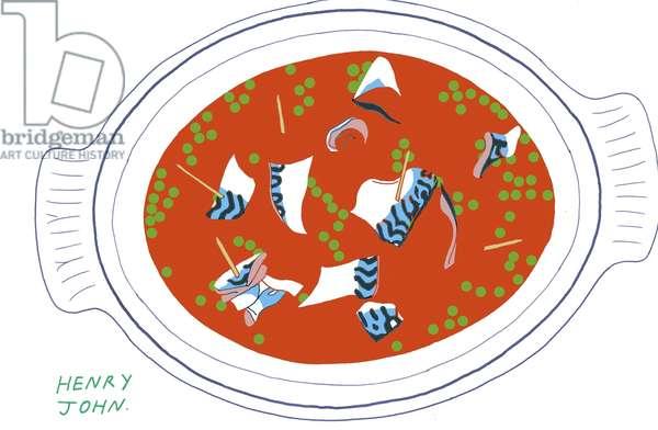 Mackerel. 2008-09 (mixed media)