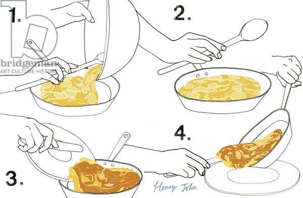 Omelette, 2008-09 (mixed media)