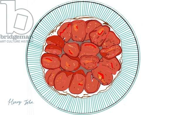 Tomato Tart Tatin, 2008-09 (mixed media)