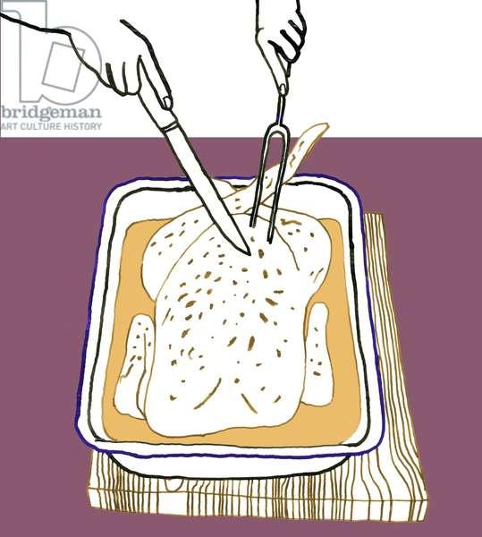 Roast Chicken, 2008-09 (mixed media)