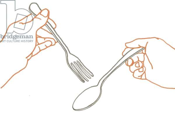 Fork and Spoon, 2008-09 (mixed media)
