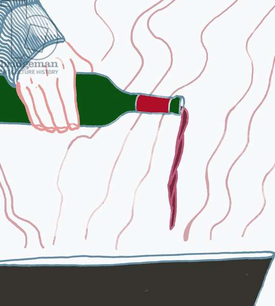 Pouring Wine, 2008-09 (mixed media)