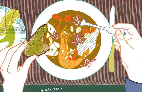 Soup, 2009 (mixed media)