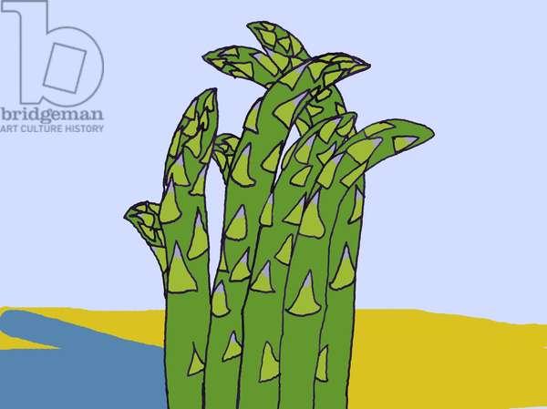 Asparagus, 2008-09 (mixed media)