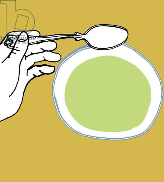 Asparagus Soup. 2009 (mixed media)