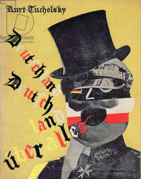 Cover from a picture book of 'Deutschland, Deutschland ueber alles', by Kurt Tucholsky (colour litho)