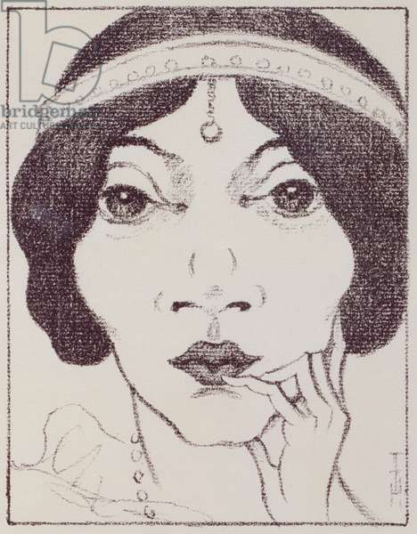 Sieglind Aarenhold, from 'Waelsungenblut' by Thomas Mann, 1921 (litho)