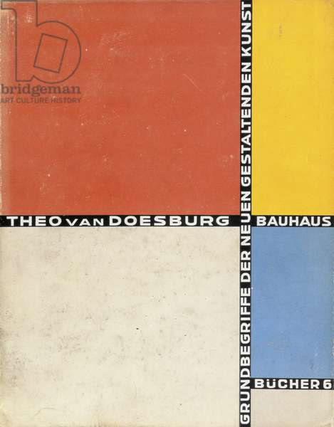 Book cover, from the 'Grundbegriffe der Neuen Gestaltenden Kunst', 6th in a series of Bauhaus books, published 1925-30 (colour litho)