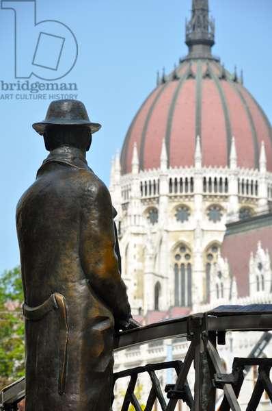 Statue of Imre Nagy, Budapest, Hungary (photo)