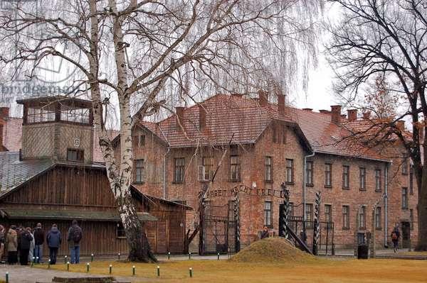 Entrance to Auschwitz, Oświęcim, Poland (photo)