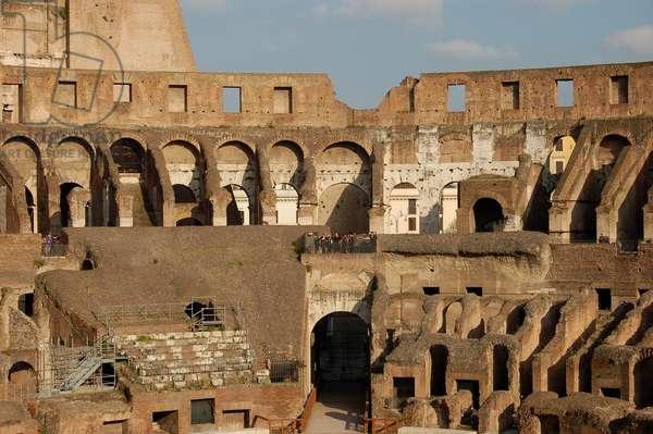 Colosseum interior, Rome, Italy (photo)