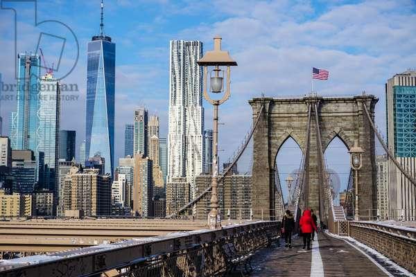 Manhattan from Brooklyn Bridge, New York City (photo)
