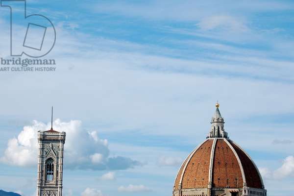 The Dome and Campanile of Santa Maria del Fiore, Florence, Italy (photo)