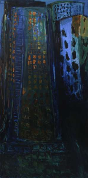 City - Night (oil on canvas)