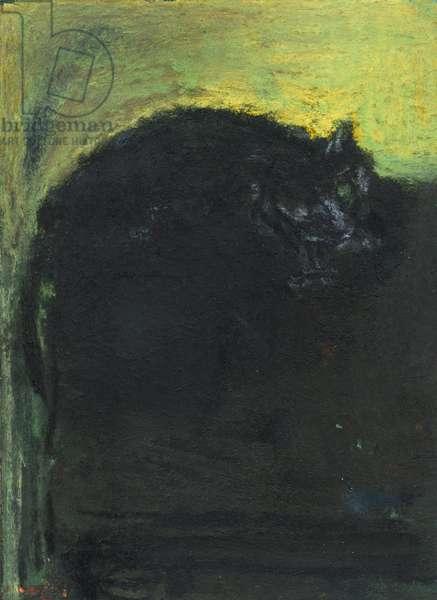 Black cat, 2017 (pastel)