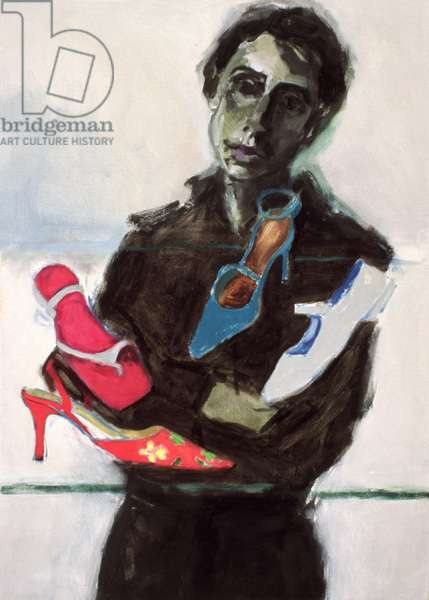 Shoe Shop II (oil on canvas)