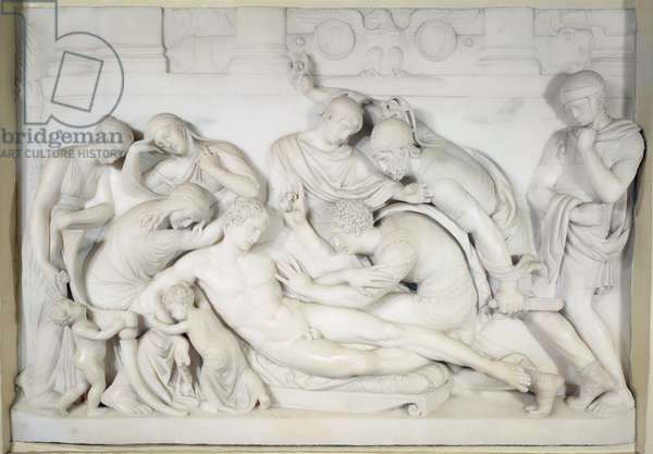 The Death of Germanicus, c.1774 (marble)