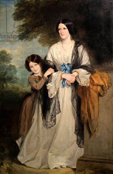 Juliana, Countess of Leicester with her eldest child Lady Julia Coke (oil on canvas)